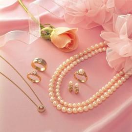 진주 목걸이, 반지, 귀걸이 세트